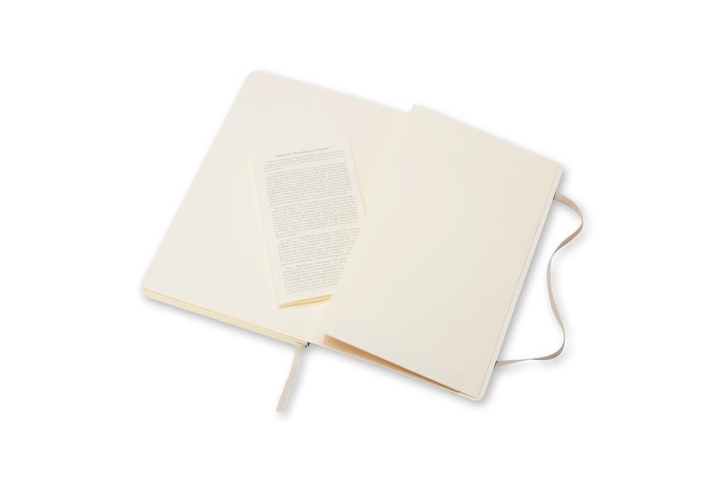 Caderno Moleskine Clássico, Bege Caqui, Capa Flexível - Pautado - Bolso (9x 14 cm)