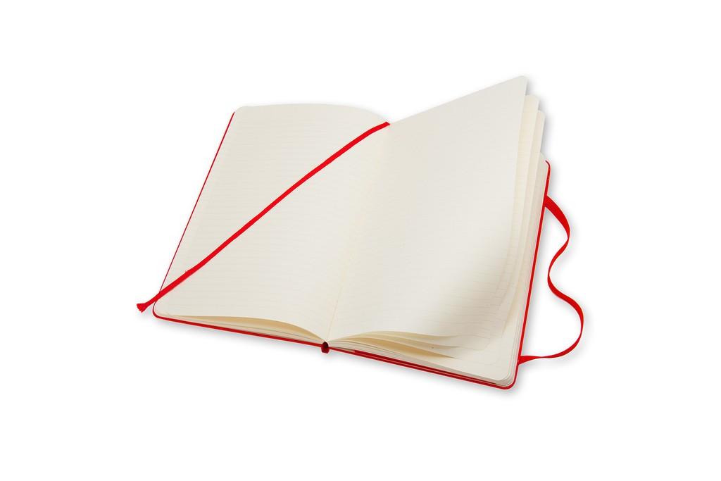 Caderno Moleskine Clássico, Vermelho, Capa Dura
