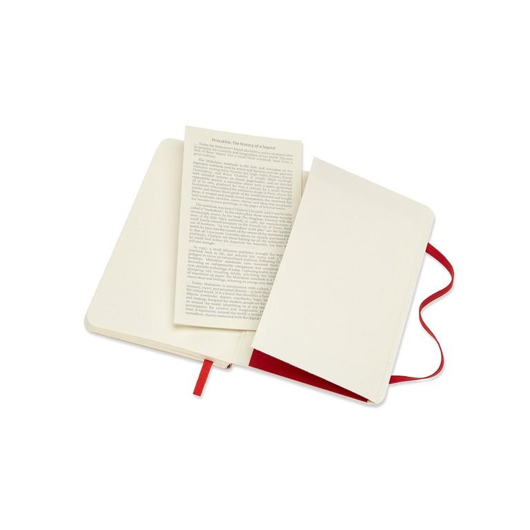 Caderno Moleskine Clássico, Vermelho, Capa Flexível