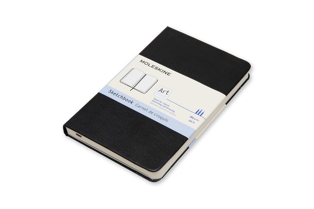 Caderno de Esboços Moleskine Clássico, Preto, Capa Dura, Sem Pauta, Tamanho Bolso
