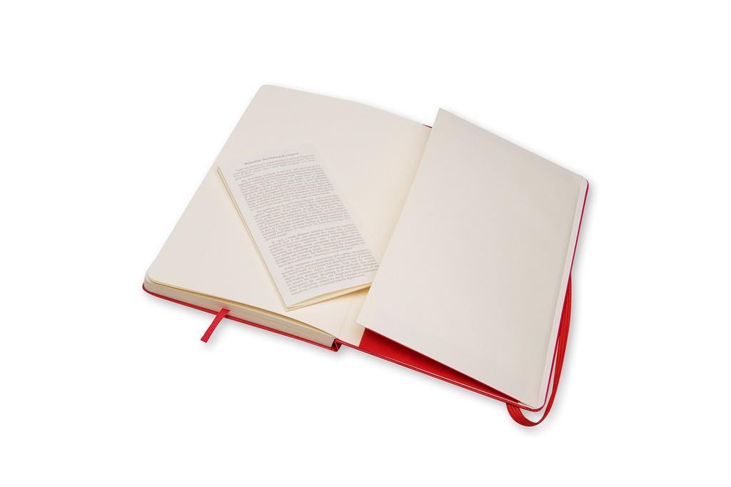 Caderno de Esboços Moleskine Clássico, Vermelho, Capa Dura, Sem Pauta, Grande
