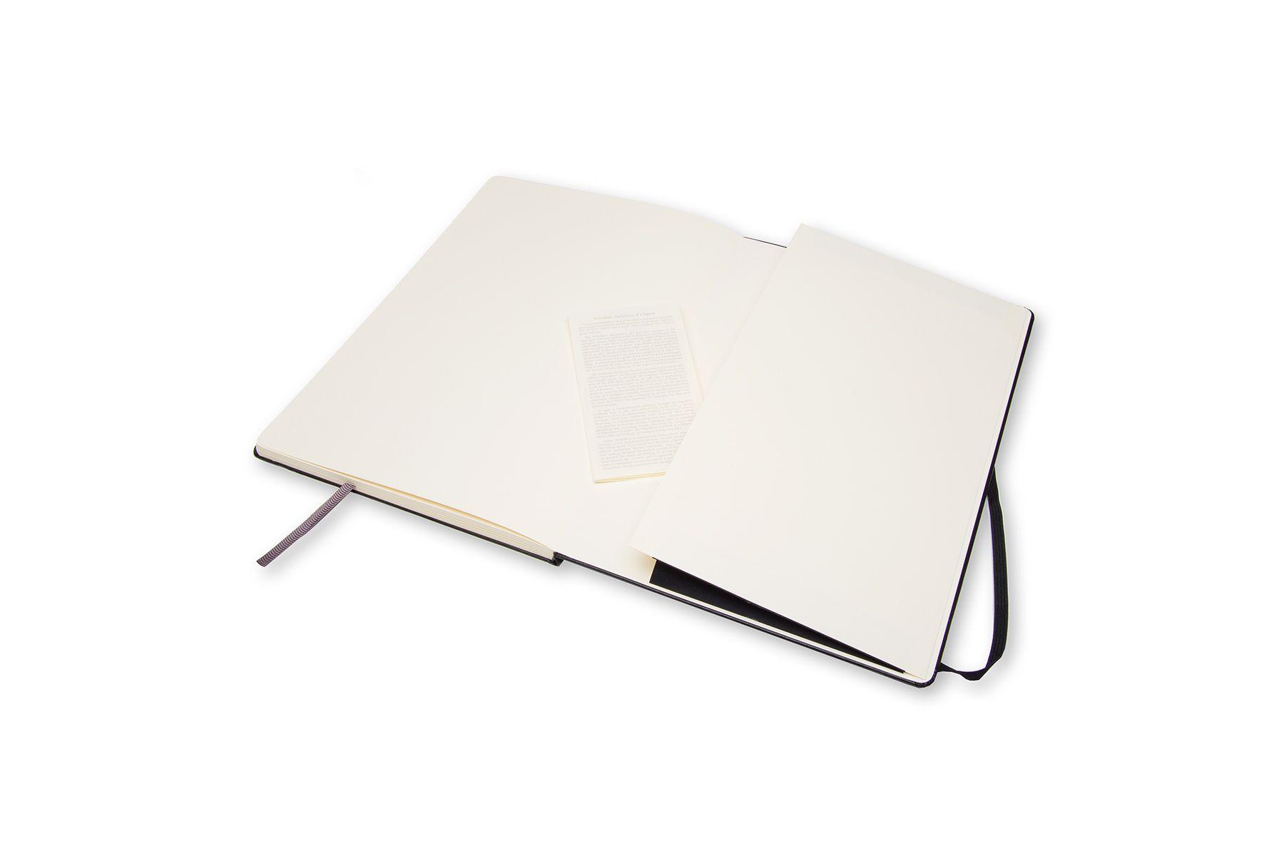 Caderno de Esboços Moleskine Clássico, Preto, Capa Dura, Sem Pauta, A4