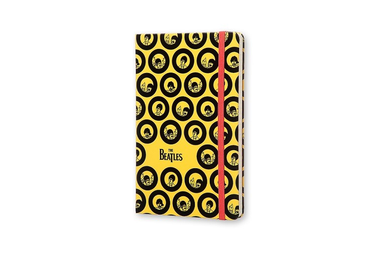 Caderno Moleskine Edição Limitada, Beatles, Amarelo, Capa Dura, Pautado, Grande