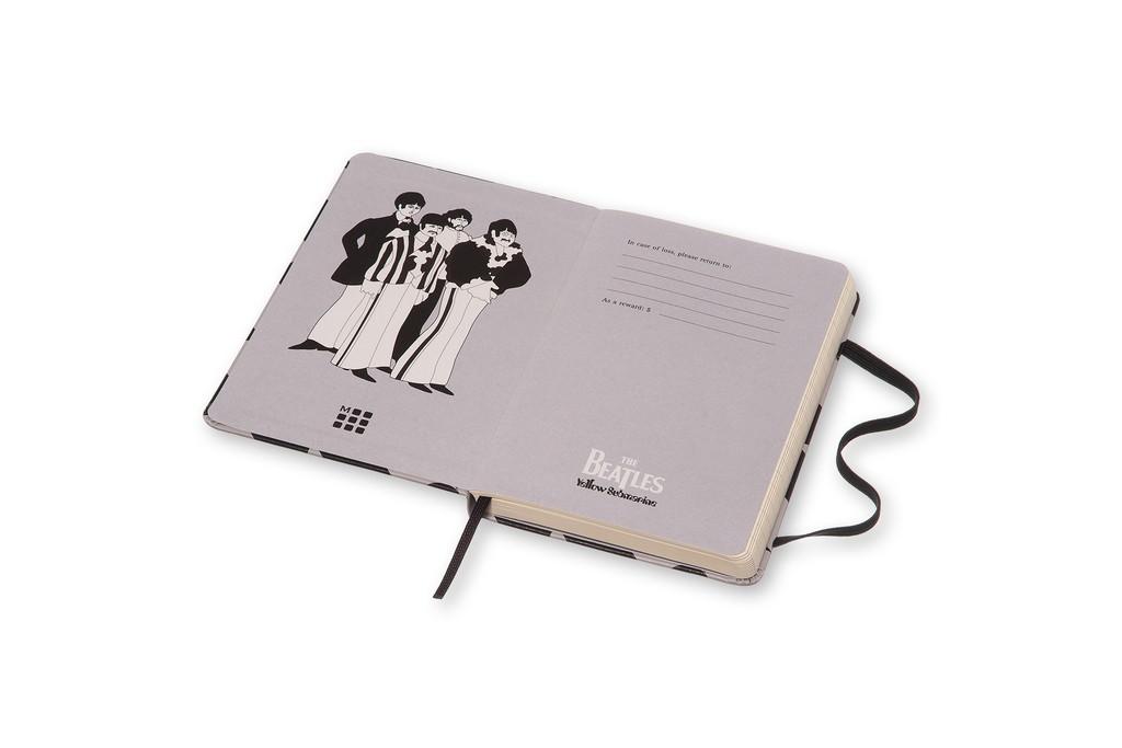 Caderno Moleskine Edição Limitada, Beatles, Preto Fish, Capa Dura, Pautado, Tamanho Bolso
