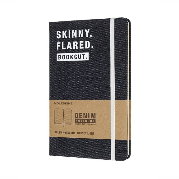 Caderno Moleskine Edição Limitada, Denim, Skinny, Capa Dura, Pautado, Grande