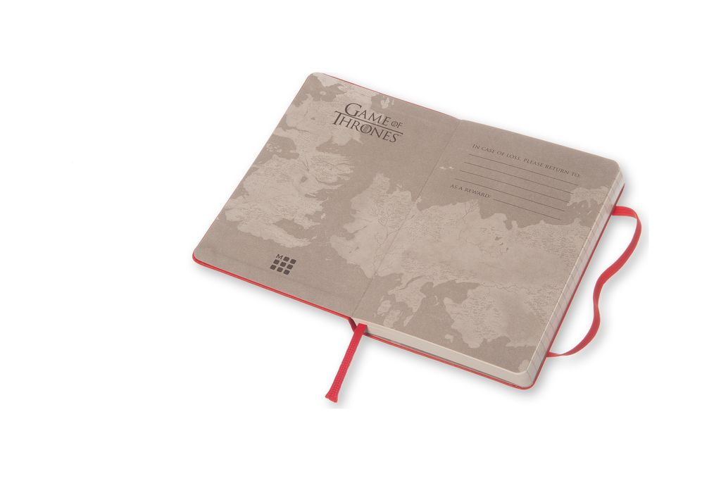 Caderno Edição Limitada Game of Thrones De Bolso Pautado Vermelho