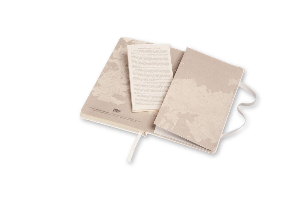 Caderno Edição Limitada Game of Thrones De Bolso Sem Pauta Branco