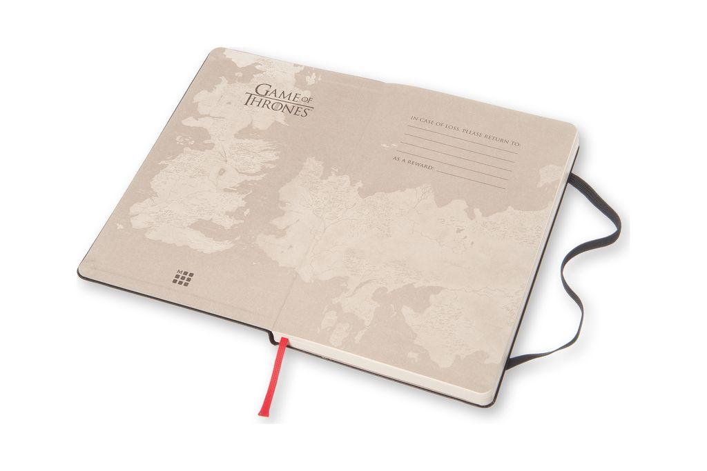 Caderno Edição Limitada Game of Thrones Grande Sem Pauta Preto