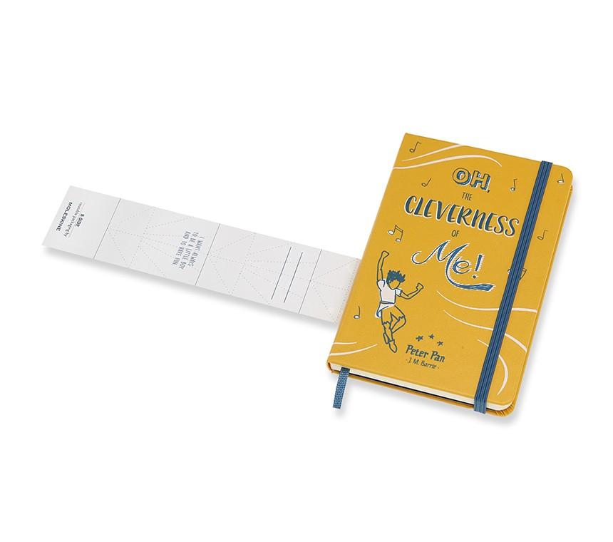 Caderno Moleskine Edição Limitada, Peter Pan, Oh The Cleverness of Me!, Capa Dura, Pautado, Tamanho Bolso