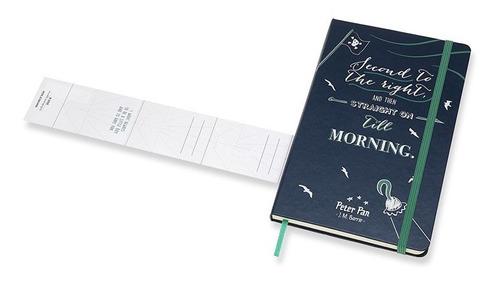 Caderno Edição Limitada Peter Pan Pirates Grande Pautado Azul Zafira