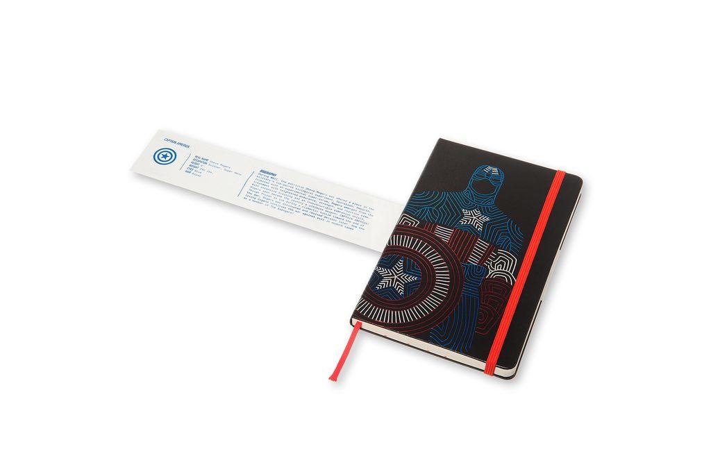 Caderno Edição Limitada, Vingadores , Capitão América, Capa Dura, Pautado, Grande