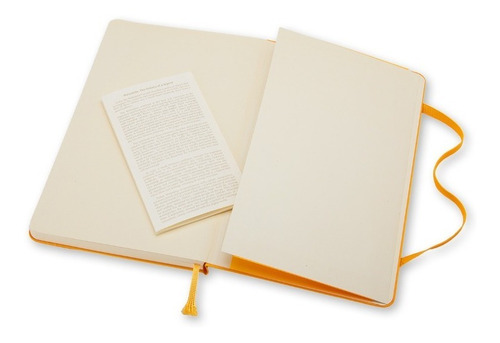 Caderno Moleskine Clássico, Amarelo Alaranjado, Pautado, Capa Dura, De Bolso