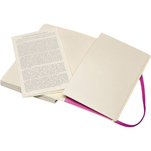 Caderno Moleskine Clássico, Roxo Orquídea, Capa Flexível, Pautado, Tamanho Bolso (9 x 14 cm)