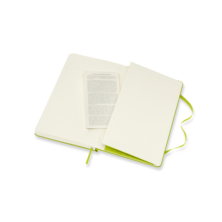 Caderno Moleskine Clássico, Verde Limão, Capa dura, Pautado, Grande