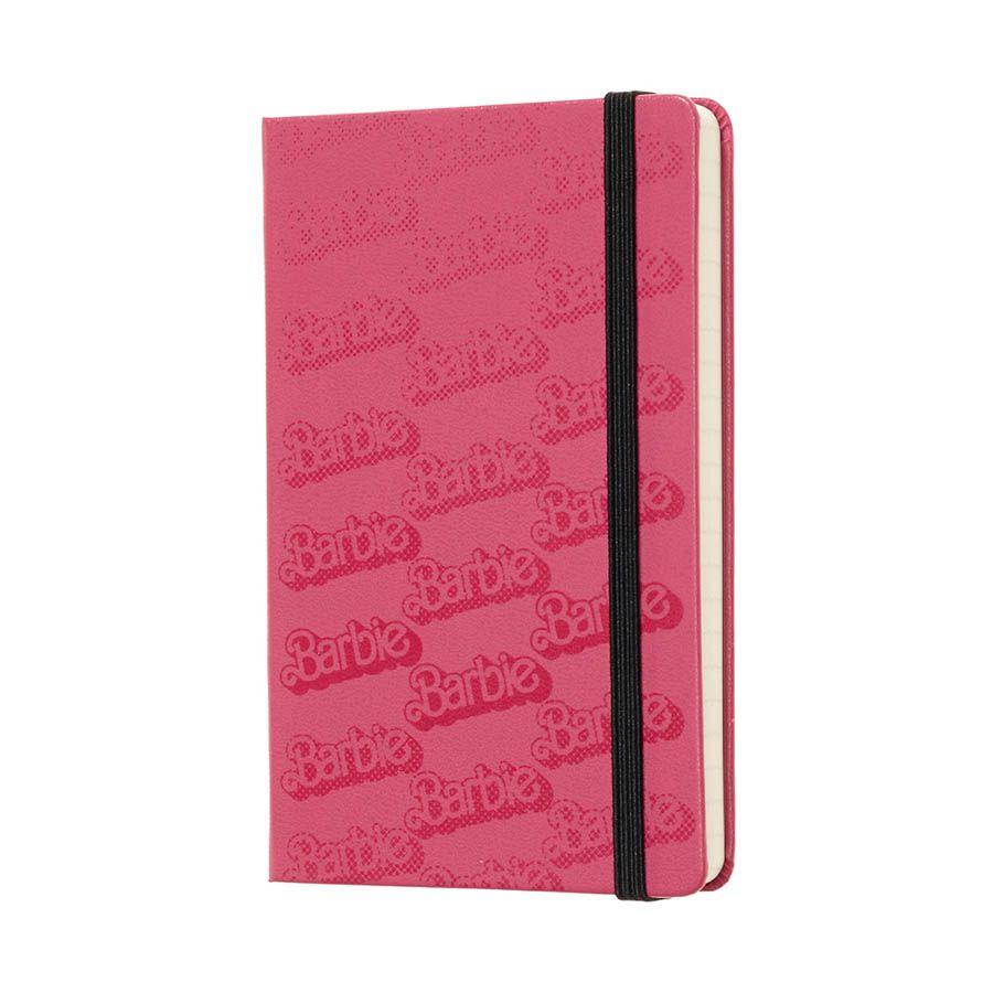 Caderno Moleskine Edição Limitada, Barbie, Logo, Capa Dura, Pautado, Tamanho Bolso