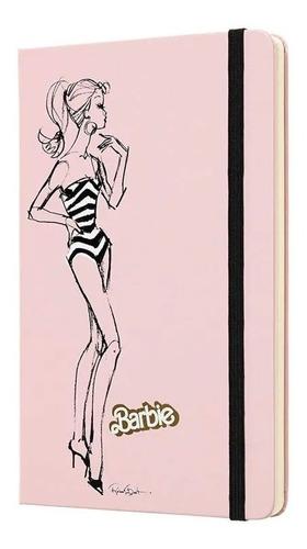 Caderno Moleskine Edição Limitada, Barbie, Maiô, Capa Dura, Sem Pauta, Grande