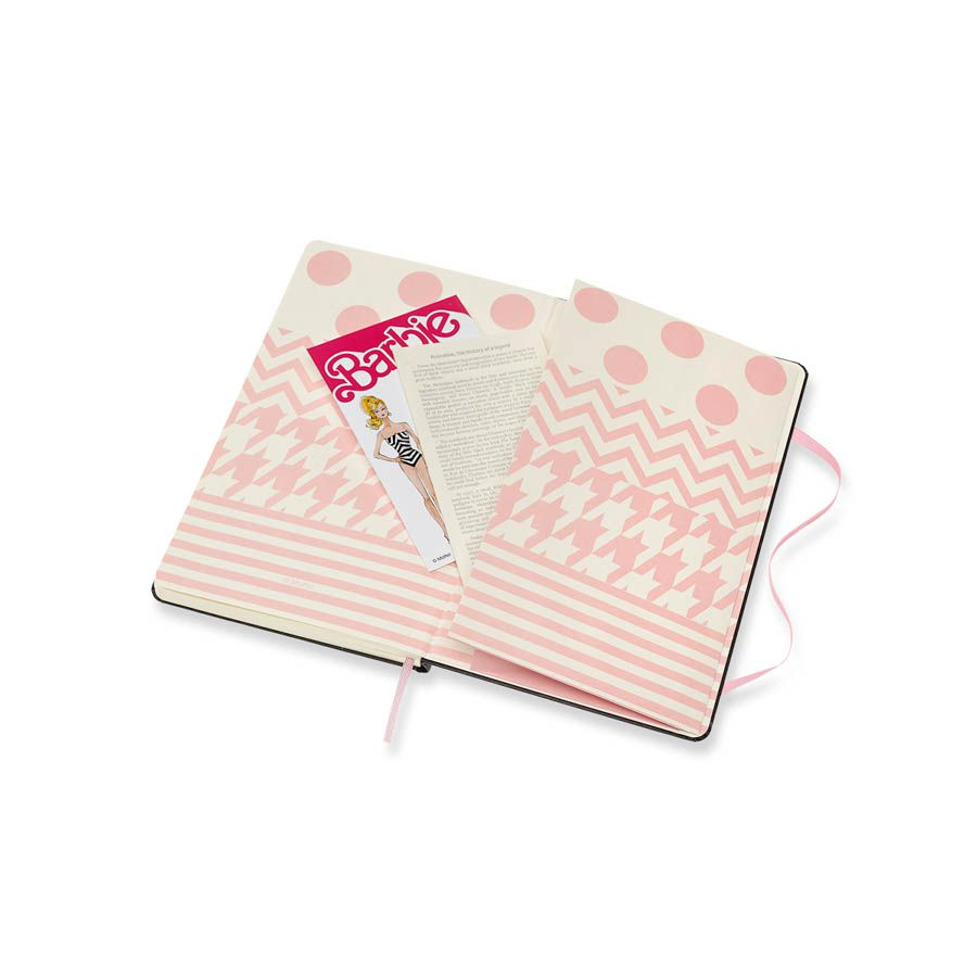 Caderno Moleskine Edição Limitada, Barbie, Pontos, Capa Dura, Pautado, Grande