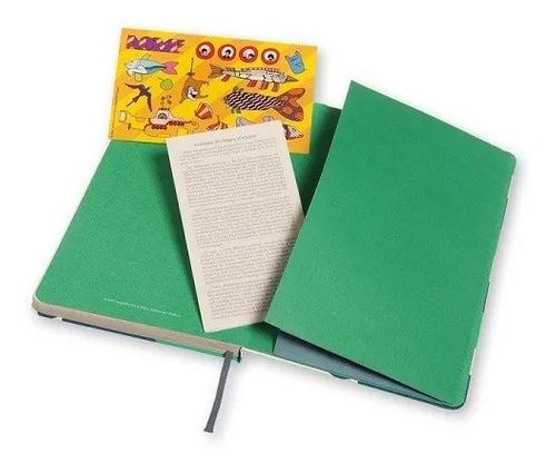 Caderno Moleskine Edição Limitada, Beatles, Branco Fish, Capa Dura, Pautado, Grande
