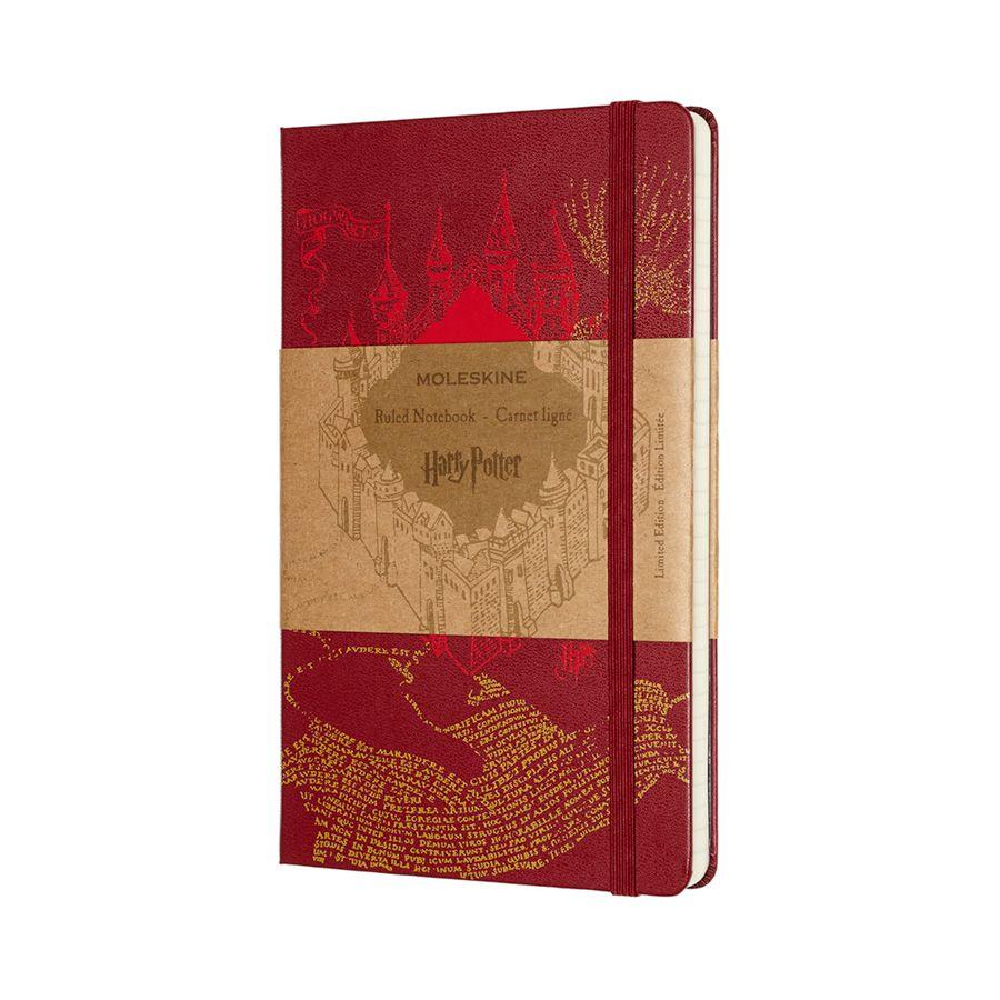 Caderno Moleskine, Edição Limitada Harry Potter, Mapa, Pautado, Grande (13 x 21 cm)
