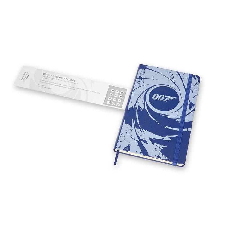 Caderno Moleskine Edição Limitada James Bond, Azul, Capa Dura, Pautado, Grande