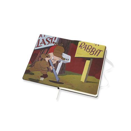 Caderno Moleskine, Edição Limitada Looney Tunes, Pernalonga, Pautado, Grande (13 x 21 cm)