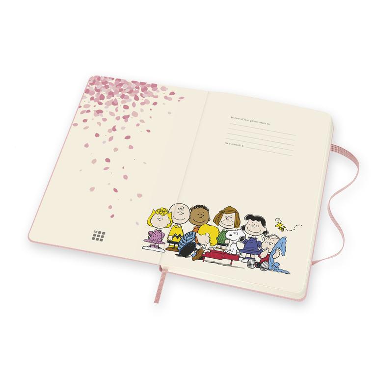 Caderno Moleskine Edição Limitada, Peanuts, Rosa, Pautado, Grande