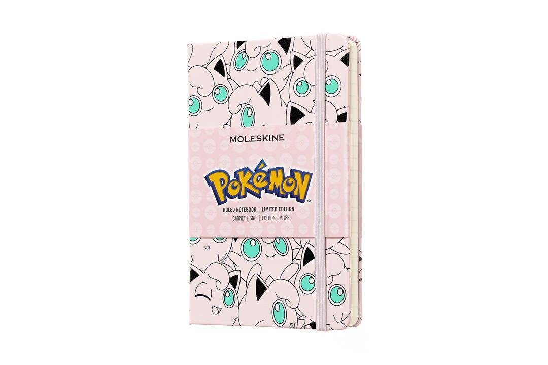 Caderno Moleskine Edição Limitada, Pokémon, Jigglypuff, Capa Dura, Pautado, Tamanho Bolso