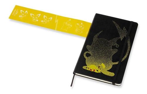 Caderno Moleskine Edição Limitada, Pokémon, Pikachu, Capa Dura, Pautado, Grande