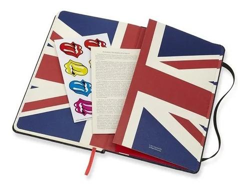Caderno Moleskine Edição Limitada, Rolling Stones, Jeans, Capa Dura, Pautado, Grande (13 x 21 cm)