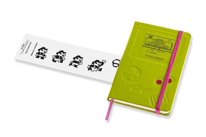 Caderno Moleskine, Edição Limitada Super Mario, Game Boy, Pautado, Tamanho Bolso (9 x 14 cm)
