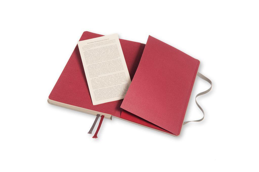 Caderno Moleskine Two Go, Cinza Claro, Capa Dura, Pautado e Sem Pauta, Capa em Tecido