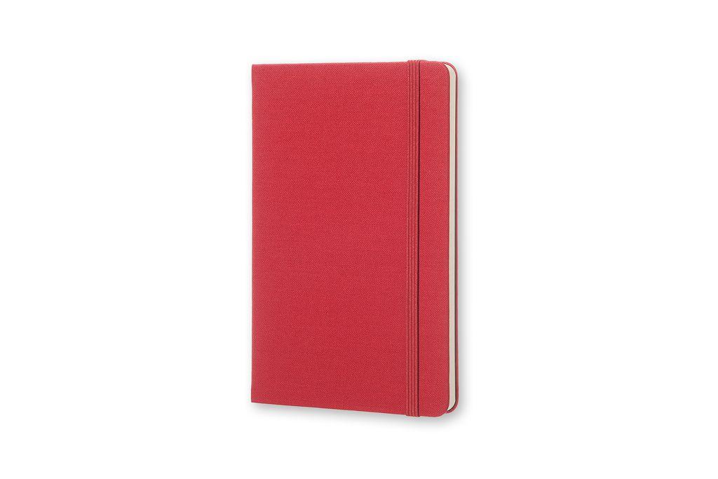 Caderno Moleskine Two Go, Vermelho Framboesa, Capa Dura, Pautado e Sem Pauta, Capa em Tecido