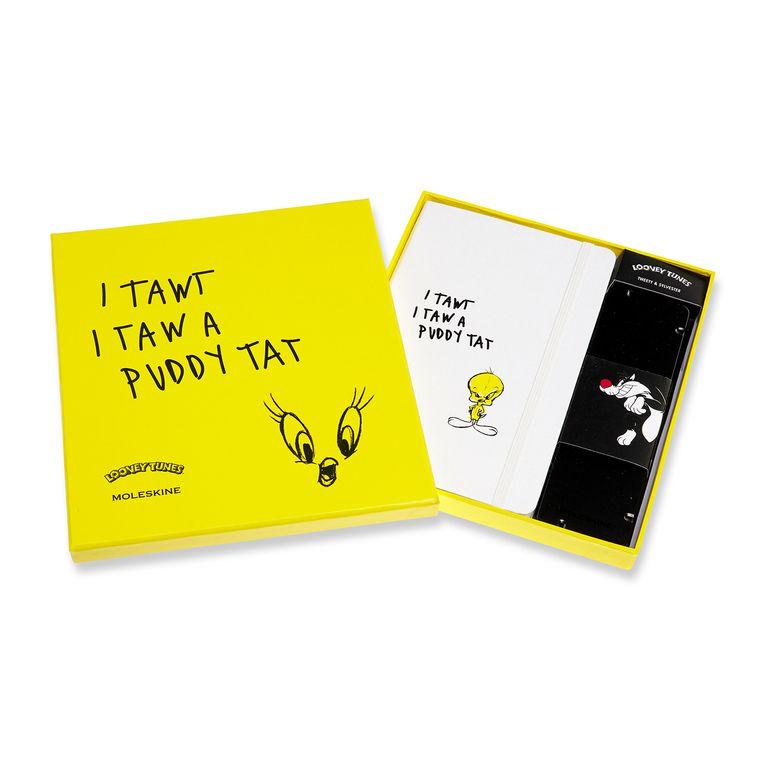 Caderno Moleskine Edição Limitada Looney Tunes, Caderno de Esboços Grande (13 x 21 cm - 165 g/m²) com capa em tecido + Conjunto de Lápis Grafite (5 Lápis para Desenho)