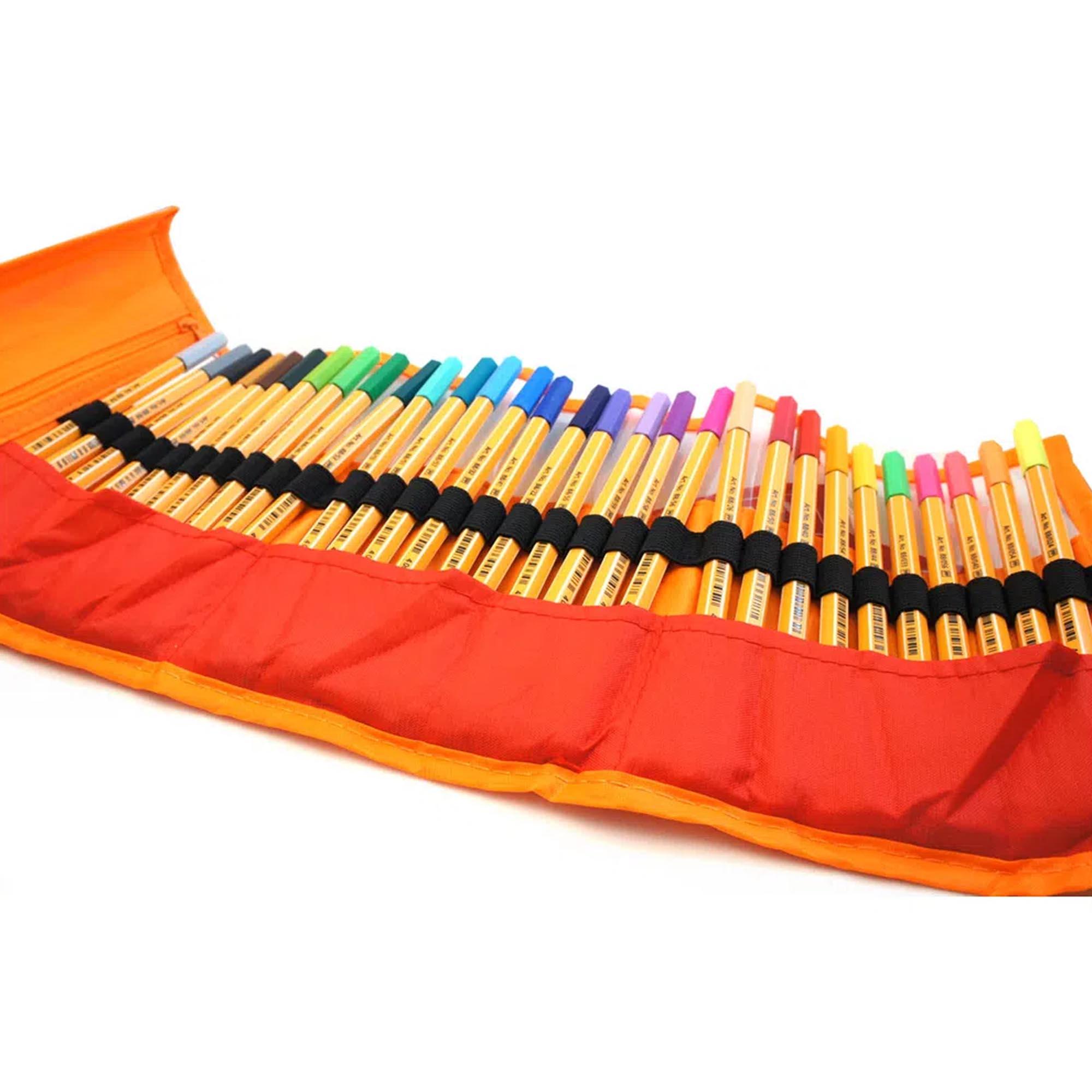 Caneta Extrafina, Stabilo, Point 8830, Estojo Nylon com 30 cores