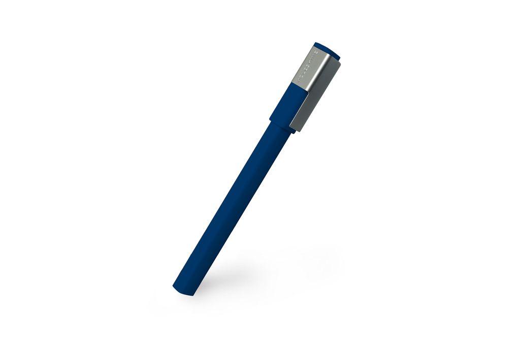 Caneta Moleskine Roller Pen Plus, Azul Royal, Tinta Preta, Com Tampa, Ponta 0.7