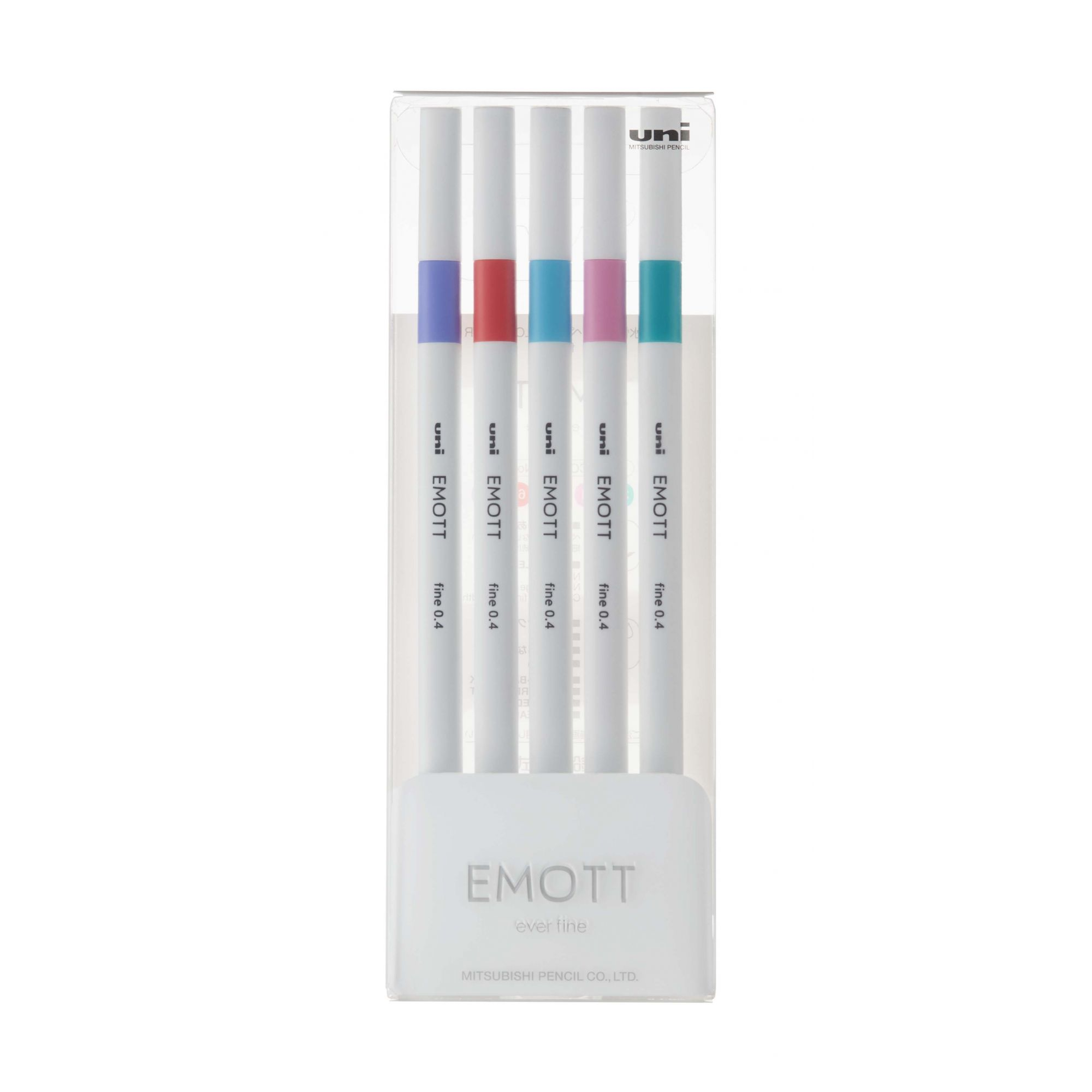 Caneta Uniball Emott 0.4mm Estojo com 5 Cores Sortidas N.05 - CandyPop Colors