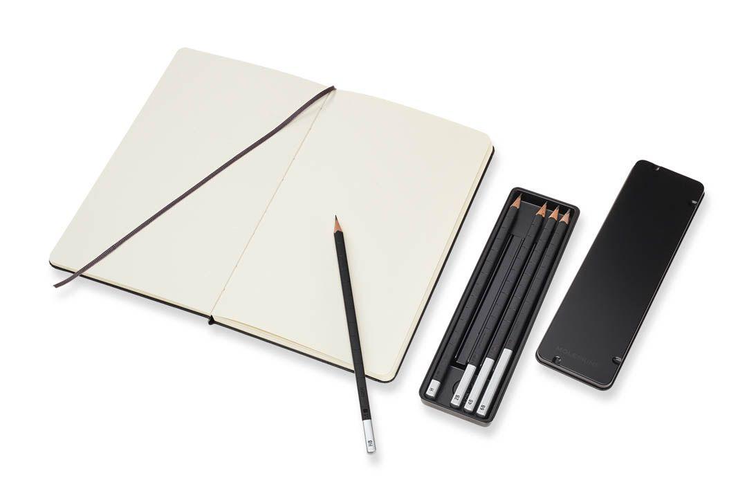 Conjunto Caderno de Esboços Moleskine Grande + Kit Lápis de Desenho Moleskine