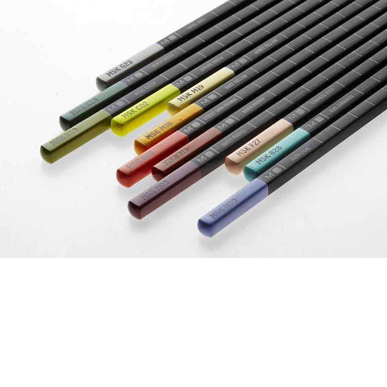 Conjunto Lápis de Cor Moleskine, Aquareláveis, Nômade Urbano, Tons Pastéis, 12 lápis