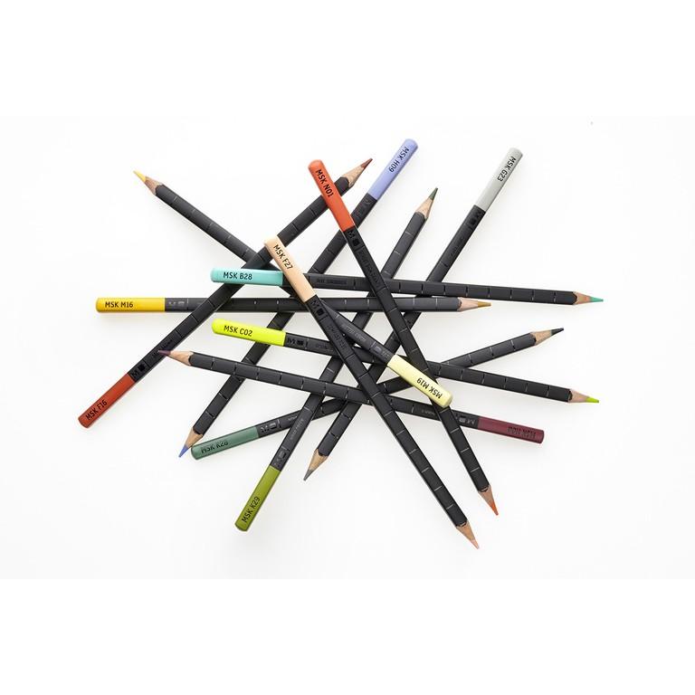 Conjunto Lápis de Cor Moleskine, Aquareláveis, Nômade Urbano, Tons Pastéis, 12 lápis (Outlet) Prod. com pequenas avarias