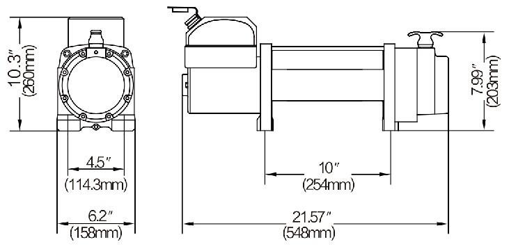 Guincho Eletrico NovaWin 10.000lbs(4540kgs) 12 v.