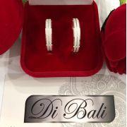 Aliança De Namoro Em Prata Diamantada (Par)