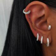 Piercing de Orelha com Zirconias de Prata