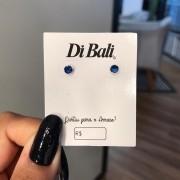 Brinco de Prata Zircônia Azul