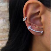 Brinco de Prata Ear Cuff Flecha