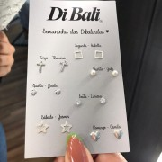 Kit Brincos de Prata Semaninha das Dibalindas 3