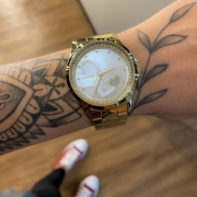 Kit Relógio Lince Dourado - LRGJ107L
