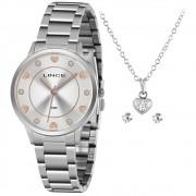 Kit Relógio Lince Prata - LRMH144L