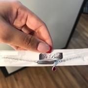 Pulseira de Prata Infantil Zircônia Vermelha