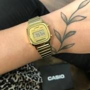 Relógio Casio Mini Vintage Dourado - LA670WGA-9DF