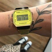 Relógio Casio Vintage Dourado - A168WEGM-9DF
